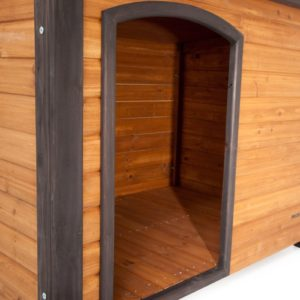 Precision Pet Extreme Outback Log Cabin Dog House Doorway