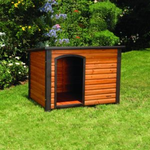 Precision Pet Extreme Outback Log Cabin Dog House Outside