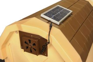 Dog House Solar Fan