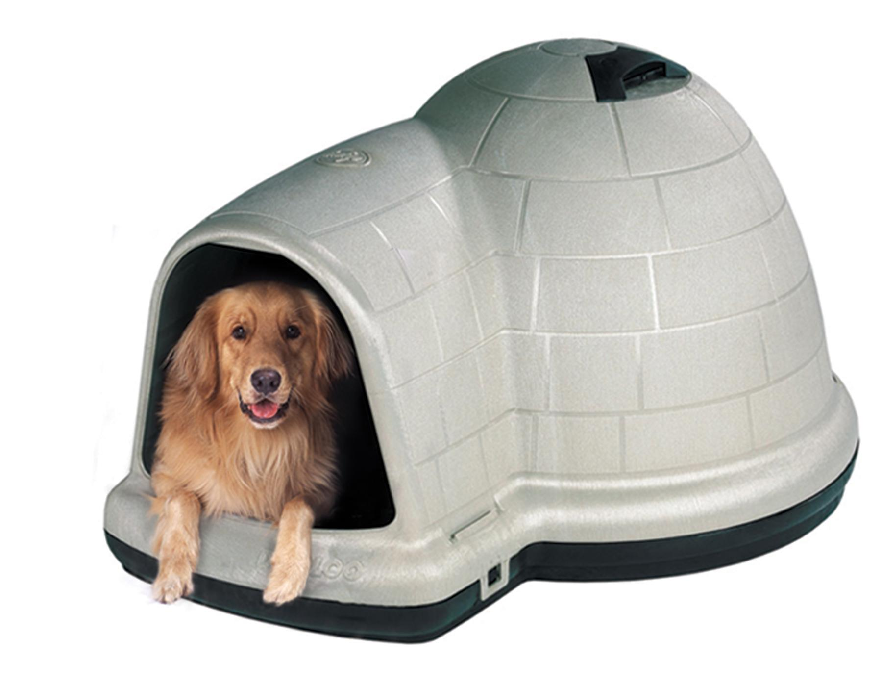 Petmate indigo igloo dog house review doggy savvy for Petmate dog house large