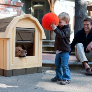 asl solutions dog palace insulated dog house doorway